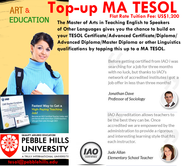 PHU top-up MA TESOL