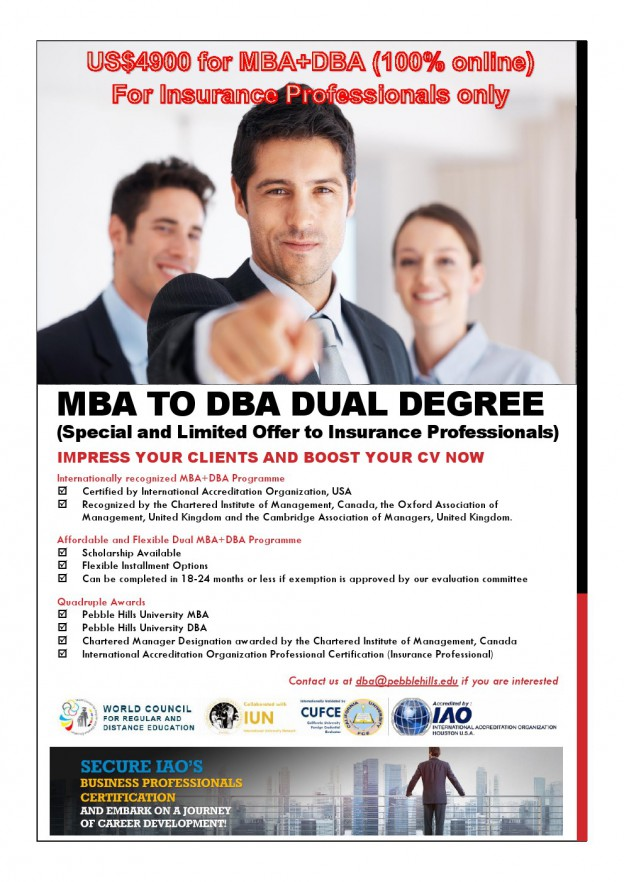 MBA DBA Dual Degree Brochure