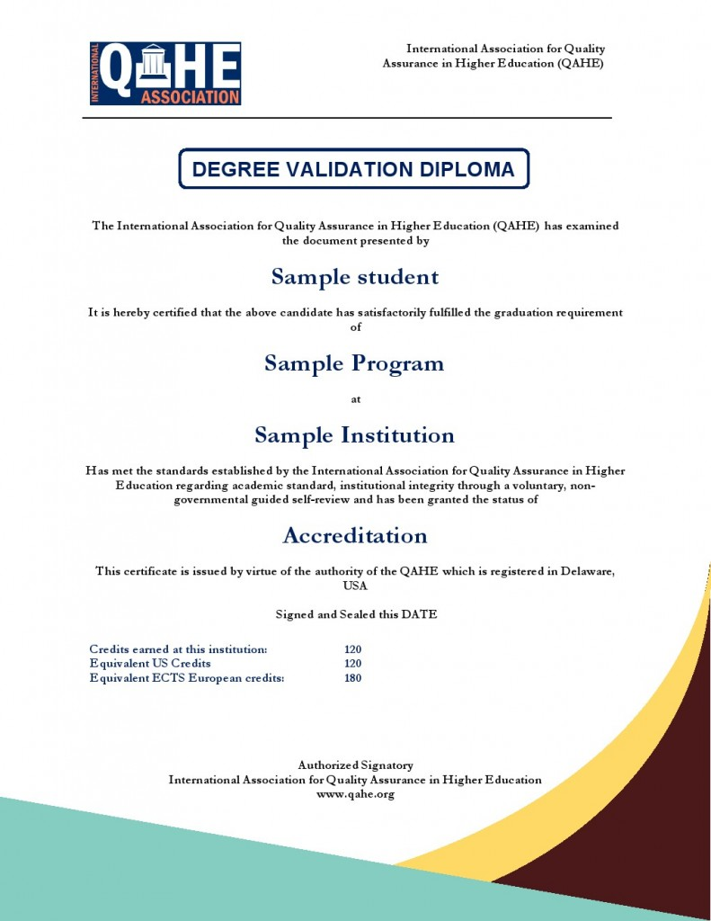 Degree Validation Diploma